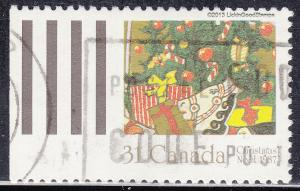 Canada 1151 USED 1987 Gifts Under Tree 31¢