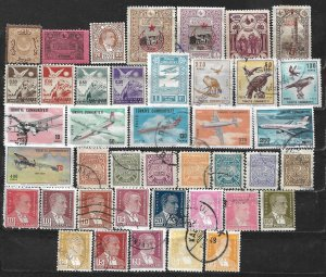 COLLECTION LOT OF 41 TURKEY  BOB 1865+ STAMPS