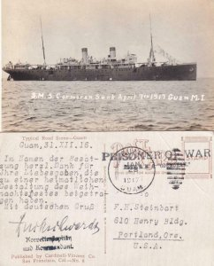 1917, German POW from SMS Cormorant, Guam, See Remark (C4249)