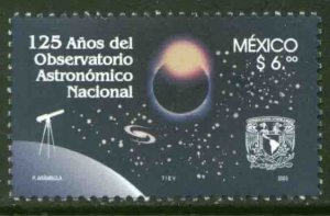 MEXICO 2314, National Astronomical Observatory 125th Anniversary MINT, NH. VF.