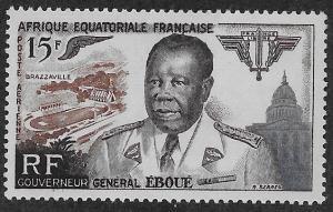 FRENCH EQUATORIAL AFRICA SC# C42  FVF/MOG    1955