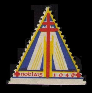 RARE 1946 TB / RED CROSS TRIANGLE STAMP, FINE MINT NH, CINDERELLA