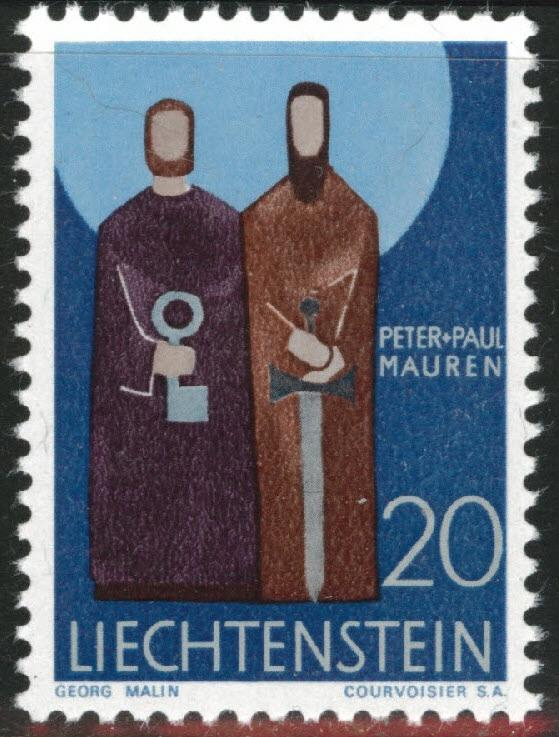 LIECHTENSTEIN Scott 432  MNH** from the 1967-71 Patron Saint set