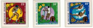 French Polynesia Stamps Scott #C117 to C119 (C117-9), Mint Very Lightly Hinge...