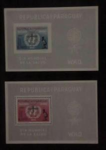MALARIA MOSQUITO  2 SHEETLET  IMPERF & PERF  PARAGUAY  MINT NH