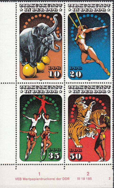 East Germany - 1985 Circus Sc# 2514 - MNH (408)