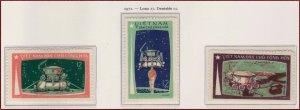 Vietnam 1971 MNH Stamps Scott 641-643 Space Flight of Luna