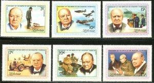 Liberia MNH 591-6 Winston Churchill 1975