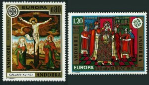 Andorra Fr 236-237,MNH.Michel 264-265. EUROPE CEPT-1975,Paintings,16th century.