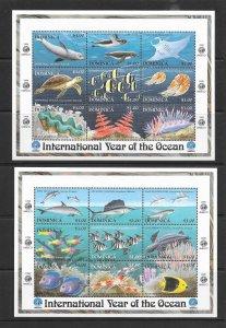 FISH - DOMINICA #2085-6 (MS)  MNH