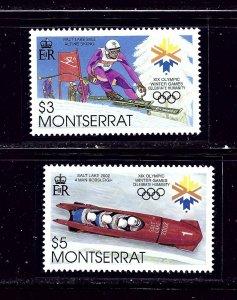 Montserrat 1062 a and b MNH 2002 Olympics