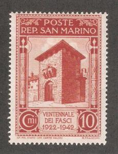 San Marino 1943,With Out Overprint 10c,Sc 216,VF Mint Hinged*