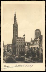Danzig 1937 Germany Poland Rathaus Artushof RPPC Cover 10pf Stamp 83992