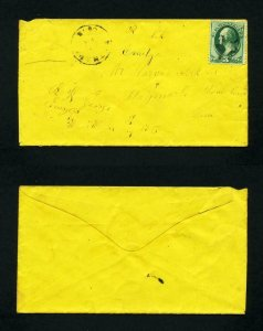FREE SHIPPING - # 184 on cover Bethany, CT, DPO, to Waymart, PA - 8-11-1880's