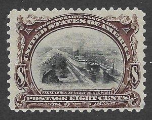 Doyle's_Stamps: NH 1901 VF 8c Canal Locks  Scott  #298**