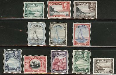BERMUDA Scott 105-114 KGV 1936-40  MH* set CV$74