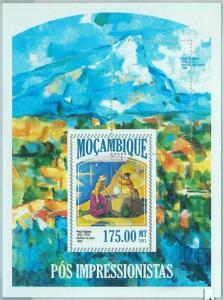 1466 - MOZAMBIQUE, ERROR, 2013 MISSPERF SHEET: Paul Signac, Art