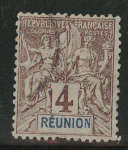 Reunion CFA Scott 36 Used1892 stamp