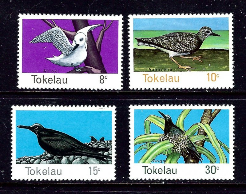 Tokelau Is 57-60 MNH 1977 Birds  #2