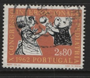 PORTUGAL,893, USED, 1962, CHILDREN PLAYING BALL