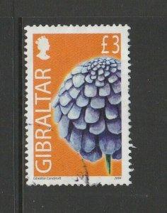 Gibraltar 2004 Wild Flowers Defs £3 FU SG 1106
