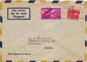 Cuba 1c Communications Building Postal Tax and 30c Airplane and Sacks of Suga...