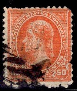 US Stamp #275 50c Orange Jefferson USED SCV $40