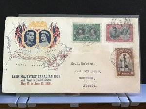Canada 1939 Royal Canadian Tour  stamps cover R31639