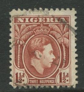 Nigeria-Scott 55 - KGV Definitive -1938 - Used - Single 1.1/2p Stamp