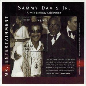 Sierra Leone MNH S/S Sammy Davis Jr. Mr. Entertainment