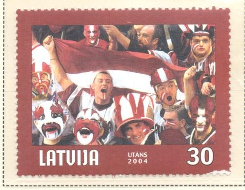 Latvia Sc 591 2004 Ice Hockey Championships stamp mint NH
