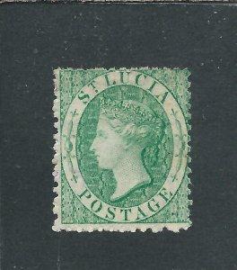 ST LUCIA 1863 (6d) EMERALD-GREEN MM SG 8 CAT £225