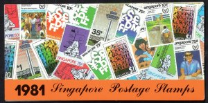 Singapore 1981 5 x MNH sets in Presentation Pack WS14612