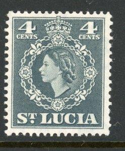 St. Lucia 160 MH 1954
