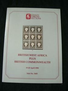STANLEY GIBBONS AUCTION CATALOGUE 1990 BRITISH WEST AFRICA + GB COMMONWEALTH