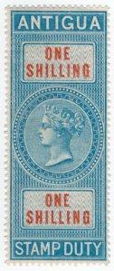 (I.B) Antigua Revenue : Duty Stamp 1/- (1876)