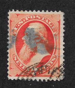 149  Used,  7c. Stanton, Lg. Banknote, Black & Blue Cancels, scv: $90
