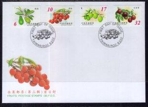 Taiwan 3408-3411 Fruit U/A FDC