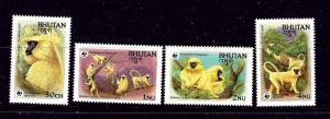 Bhutan 413-16 MNH 1984 Endangered Species