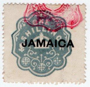 (I.B) Jamaica Revenue : Duty Stamp 1/- (die H)