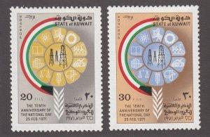 Kuwait Scott #521-522 MH