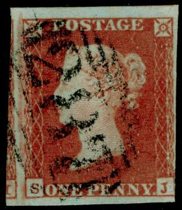 SG8, 1d red-brown, FINE USED. SJ