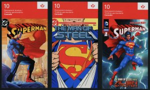Canada 2683a set of 5 Booklet covers MNH Superman, Cartoons