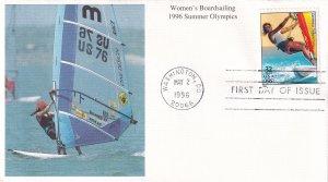 1996, Summer Olympics-Women's Boardsailing, Mystic, FDC (E11967)