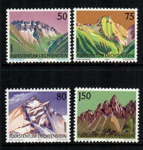 Liechtenstein  911 - 914  MNH cat $ 3.55