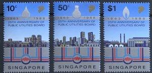 SINGAPORE 1988 PUBLIC UTILITIES SG579/581  UNMOUNTED MINT