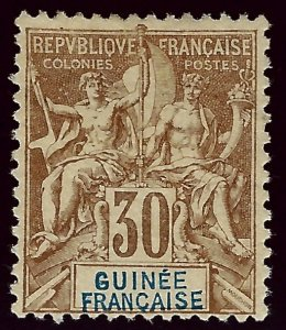 French Guinea Sc#12 F-VF Unused SCV$40 ..Buy before prices rise again!