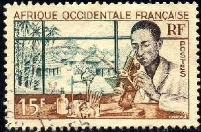 Medical Laboratory, French West Africa stamp SC#59 used