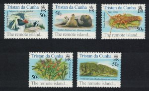 Tristan da Cunha Birds Fish Marine Life Plants The Remote Island 5v SG#818-822