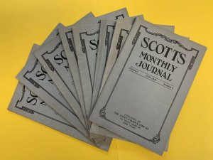 Scott Monthly Journal, 8 Issues, Between 1920-1921, Vol. 1, #4 and Vol. 2, #14